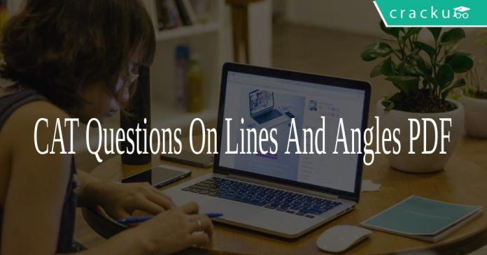 CAT Questions On Lines And Angles PDF