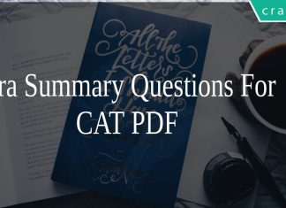 Para Summary Questions For CAT PDF