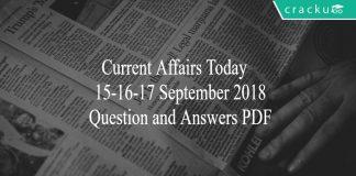 ca today quiz 15-16-17 september 2018