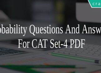 Probability Questions And Answers For CAT Set-4 PDF