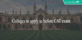 Colleges to apply to before CAT
