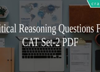 Critical Reasoning Questions for CAT Set-2 PDF