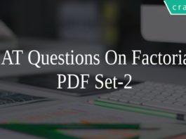 CAT Questions On Factorial PDF Set-2