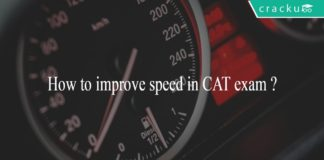 How to improve speed in CAT exam ?