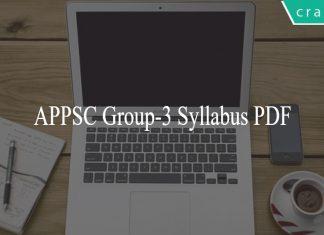 APPSC Group-3 Syllabus PDF