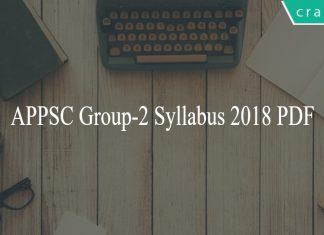 APPSC Group-2 Syllabus 2018 PDF