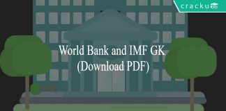 World Bank and IMF GK