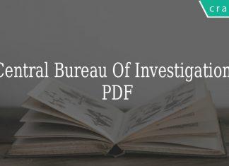 Central Bureau Of Investigation Pdf