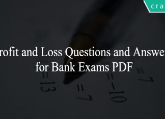 Profit and Loss Questions and Answers for Bank Exams PDF
