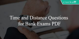 Time and Distance Questions for Bank Exams PDF