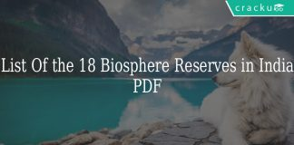 List Of the18 Biosphere Reserves in India