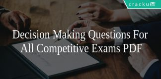 Decision Making Questions For All Competitive Exams PDF