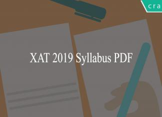 XAT 2019 Syllabus PDF