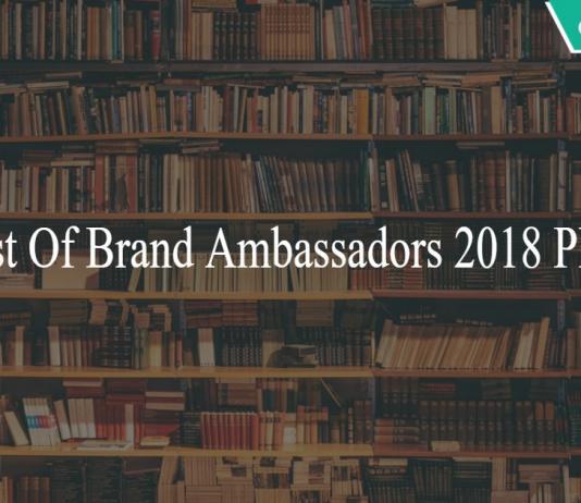 List Of Brand Ambassadors 2018 PD