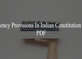 Emergency Provisions In Indian Constitution Notes PDF