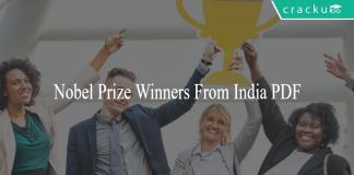 Nobel Prize Winners From India PDF
