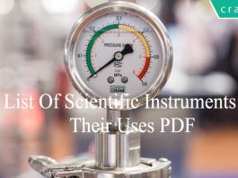 List Of Scientific Instruments & Their Uses PDF