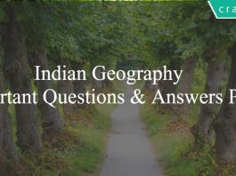 Indian Geography Important Questions & Answers PDF