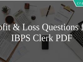Profit & Loss Questions for IBPS Clerk PDF