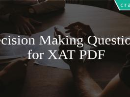 Decision Making Questions for XAT PDF