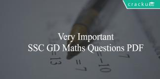 SSC GD Maths Questions PDF