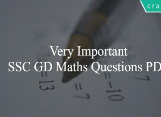 SSC GD Maths Questions PDF