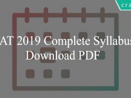 CAT Syllabus 2019