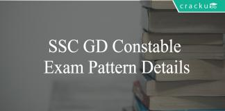 SSC GD Exam pattern details