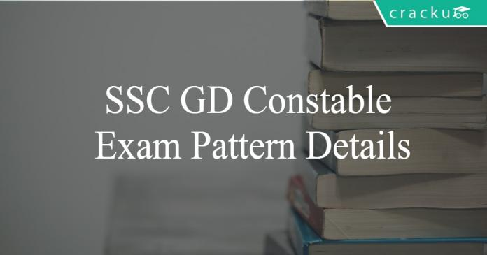 SSC GD Exam pattern details