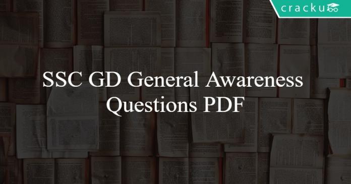 SSC GD General Awareness Questions PDF