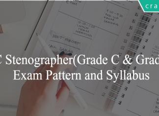 SSC Stenographer syllabus and exam pattern
