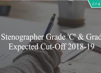 SSC STenographer cut off 2018-19