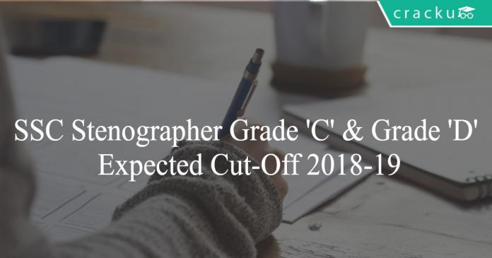 SSC STenographer cut off 2018-19