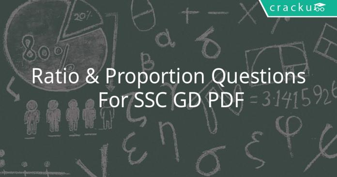 Ratio & Proportion Questions For SSC GD PDF
