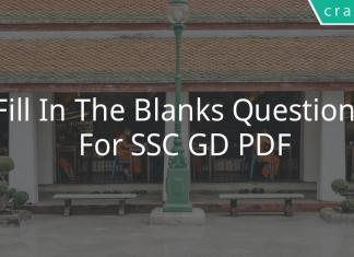 fill in the blanks questions for ssc gd pdf