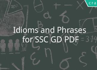 idioms and phrases for ssc gd pdf