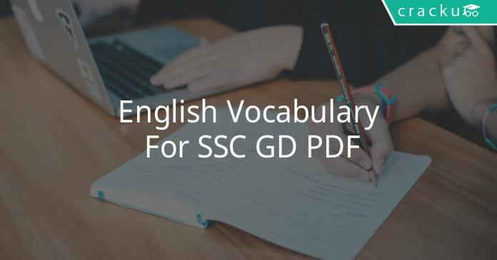 english vocabulary for ssc gd pdf