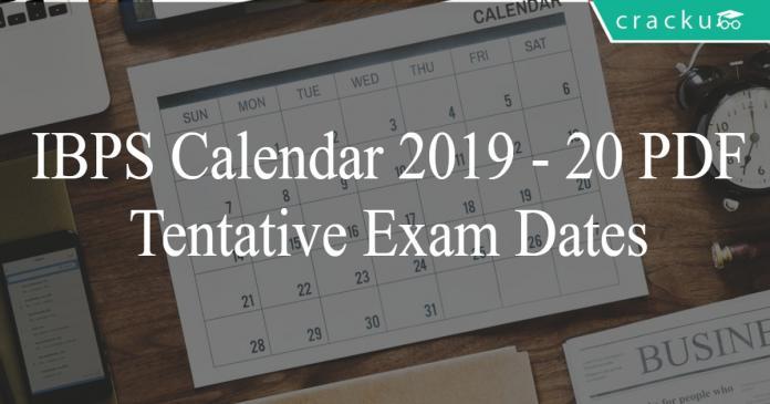 ibps 2019 calendar