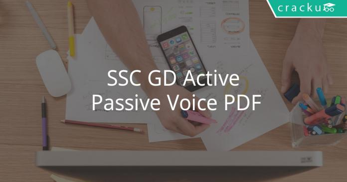 SSC GD Active Passive Voice