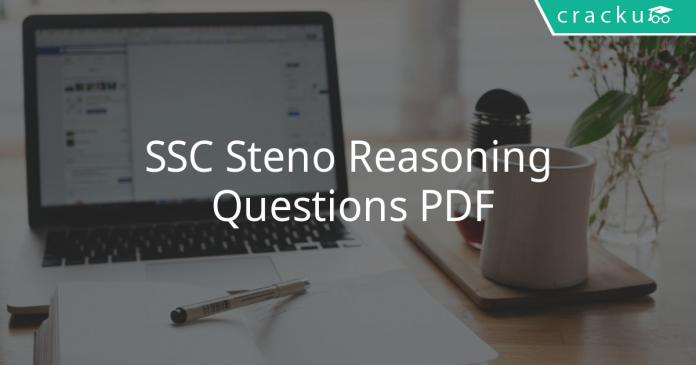 SSC Steno Reasoning Questions PDF