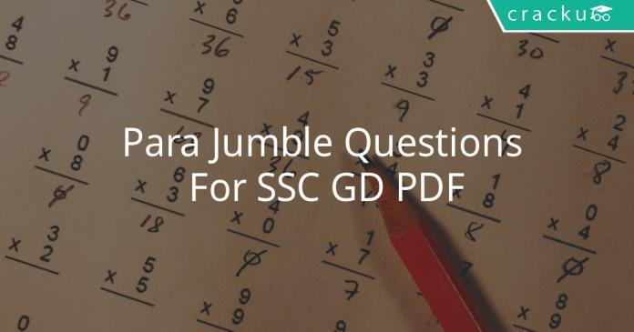 para jumble questions for ssc gd pdf
