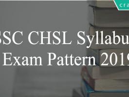 ssc chsl syllabus 2019