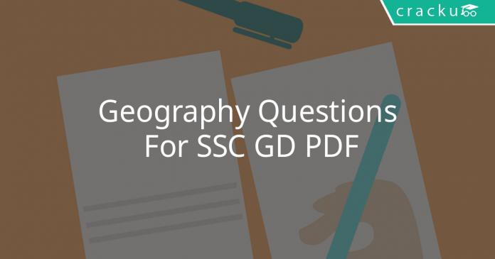 geography questions for ssc gd pdf