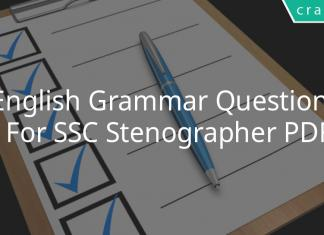 english grammar questions for ssc stenographer pdf