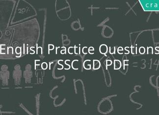 English Practice Questions For SSC GD PDF
