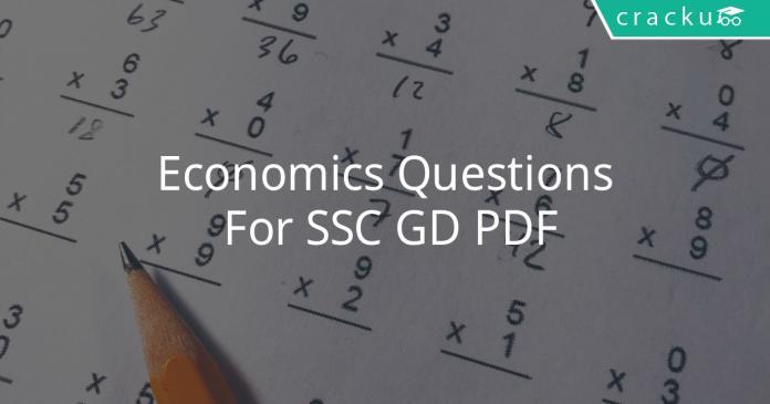 Economics Questions For SSC GD PDF