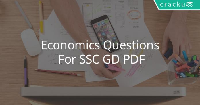 Economics Questions For SSC GD PDF