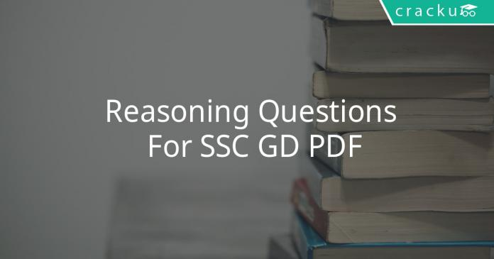 Reasoning Questions For SSC GD PDF