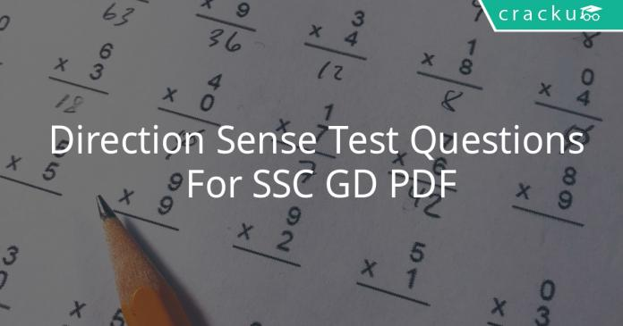 Direction Sense Test Questions For SSC GD PDF