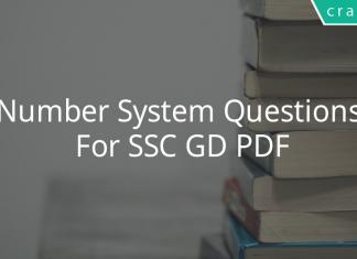 Number System Questions For SSC GD PDF